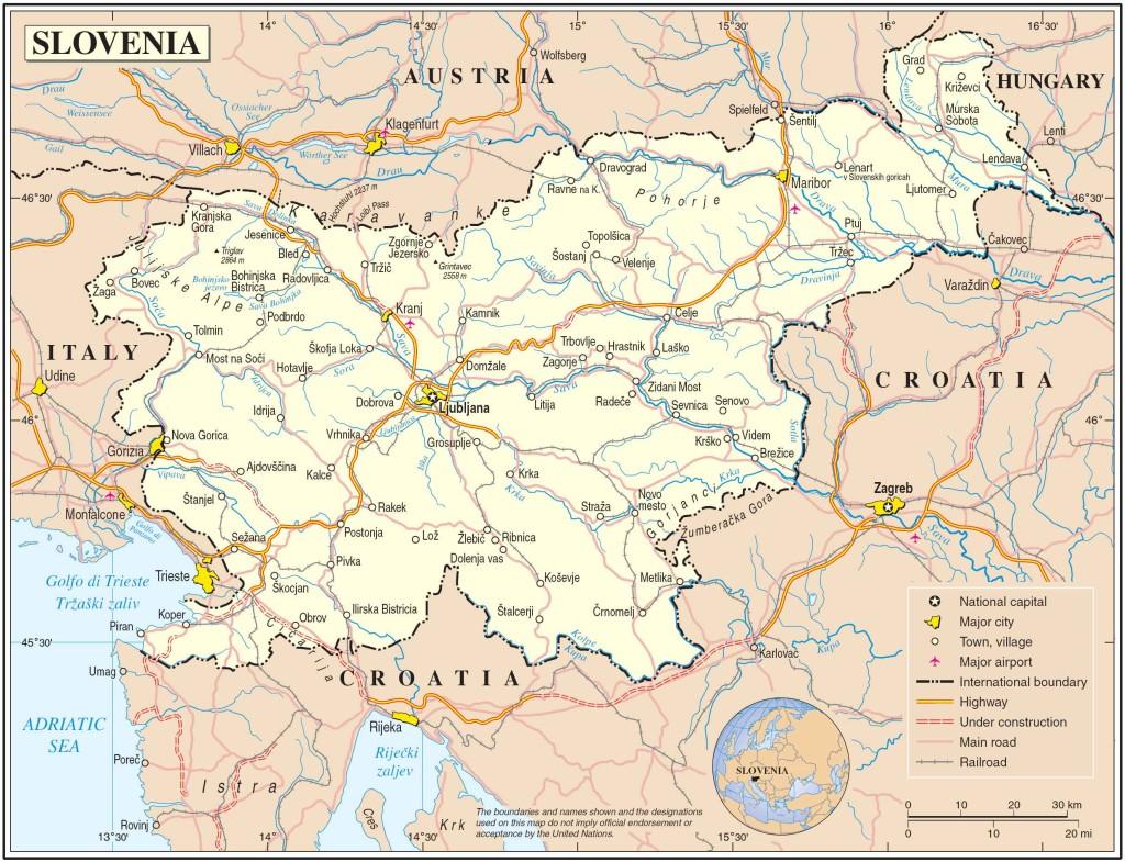 מפת סלובניה