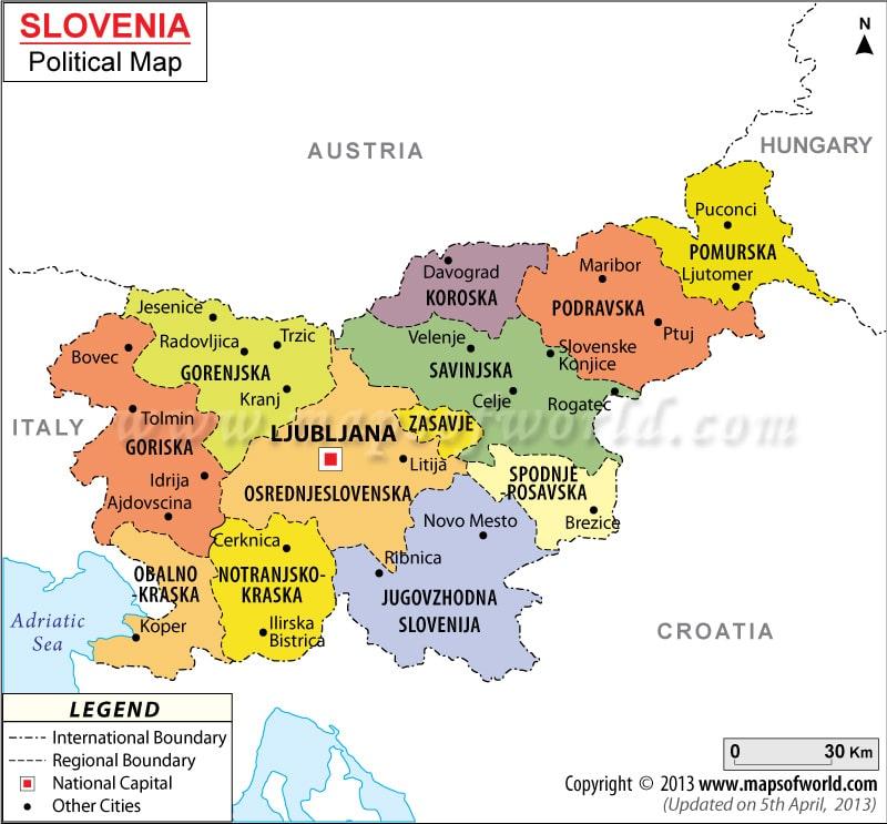 סלובניה מפה